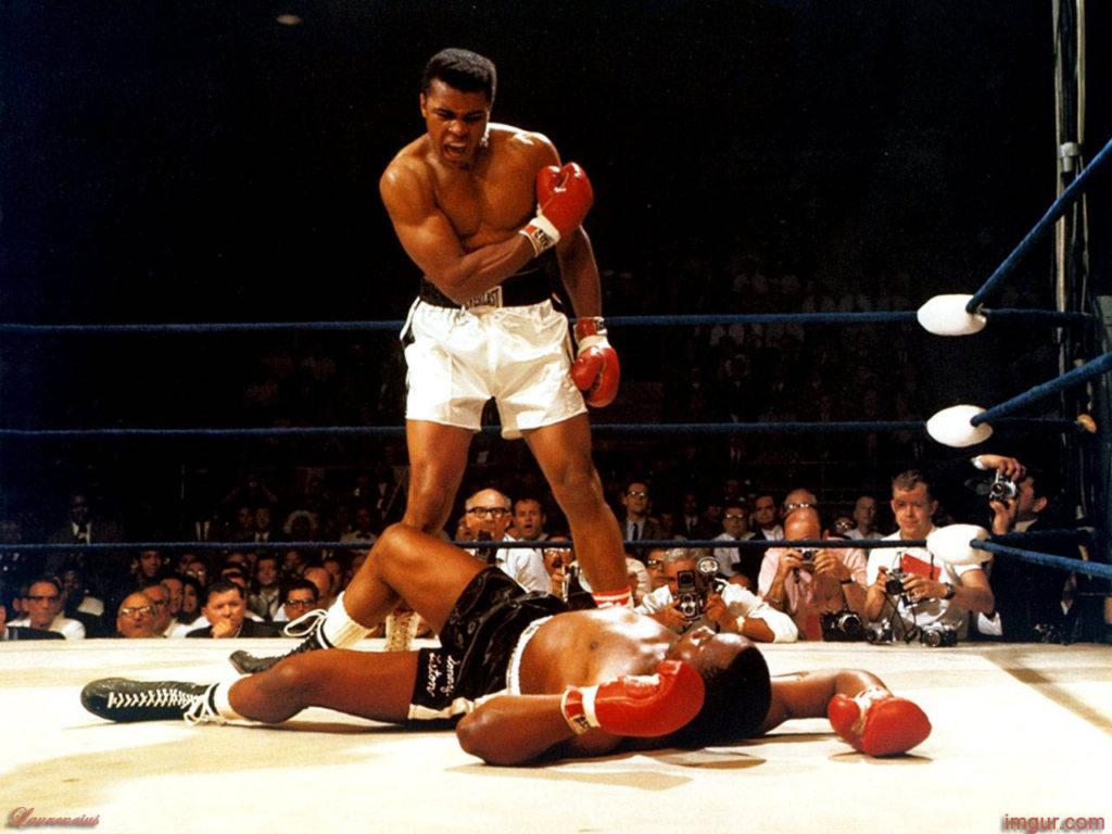 Ali vs. Liston II knockdown.