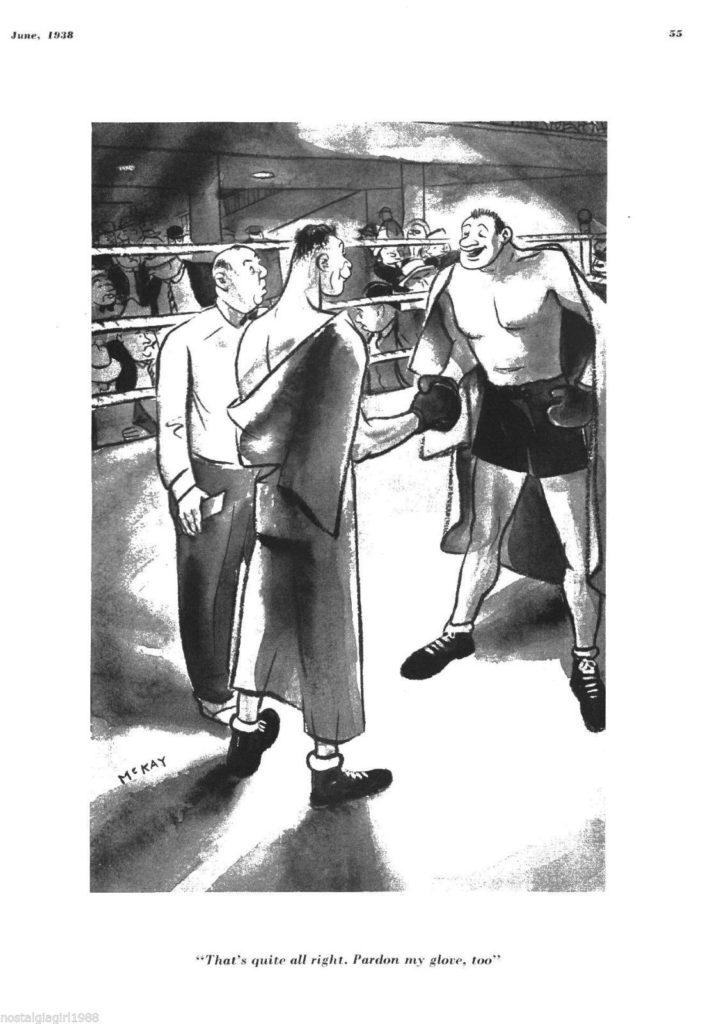 Boxing Cartoon - 1938.