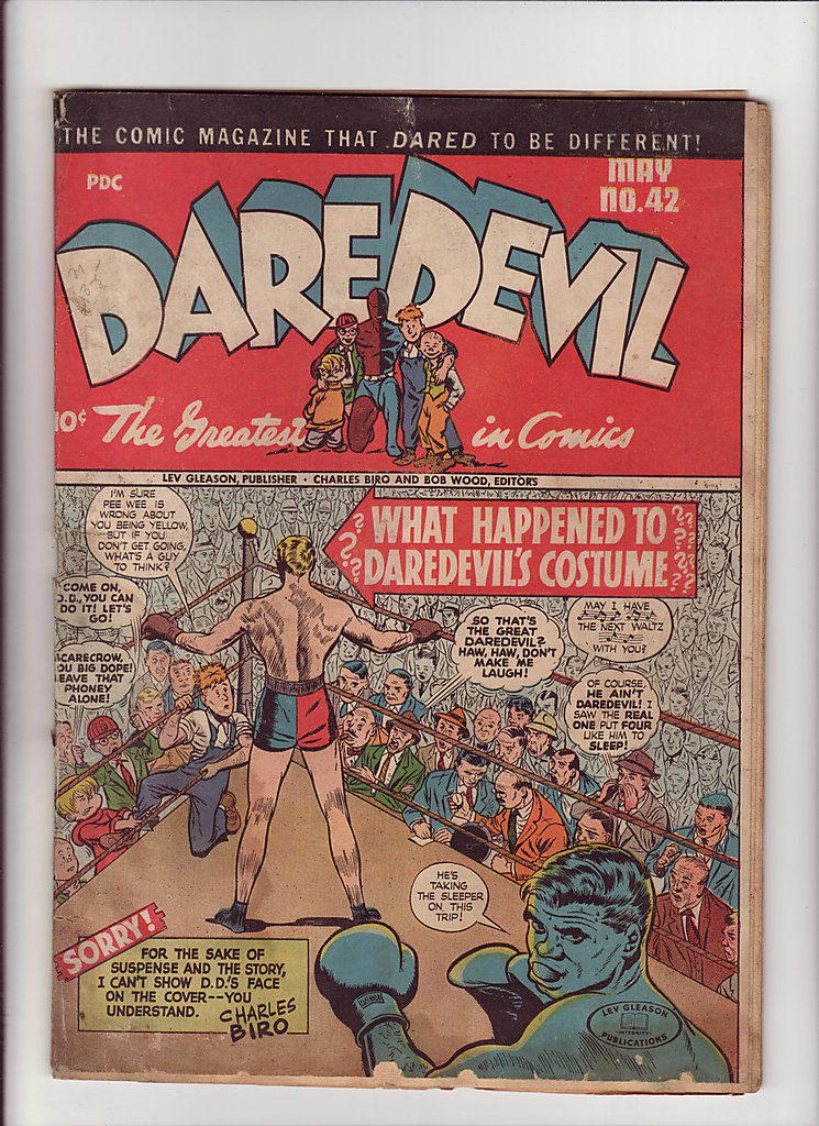 Boxing Cartoon - 1947 Daredevil.