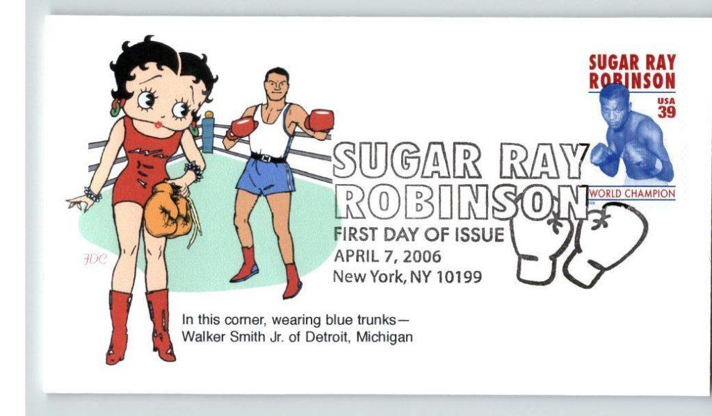 Boxing Cartoon - Betty Boop and Sugar Ray Robinson - 2006.