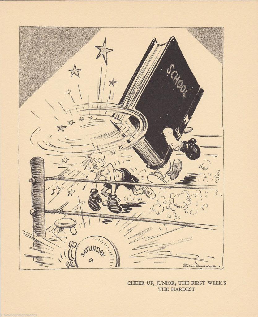 Boxing Cartoon - Education.