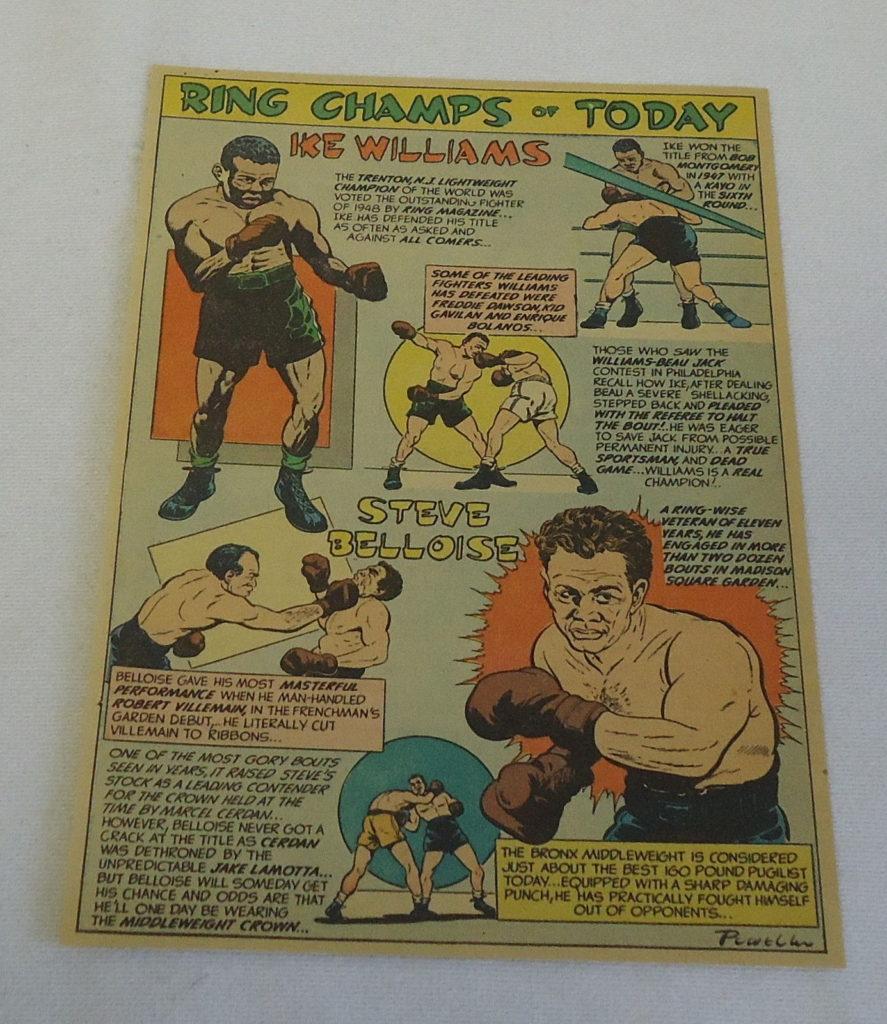 Boxing Cartoon - Ike Williams and Steve Belloise.