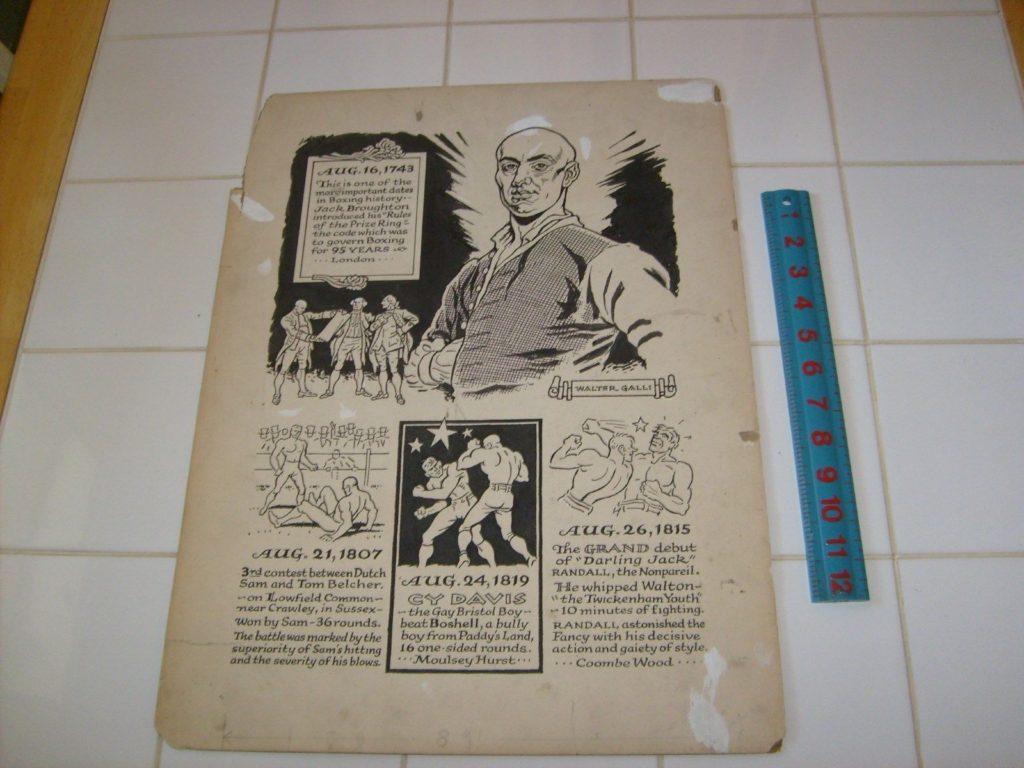Boxing Cartoon - The History of Boxing.