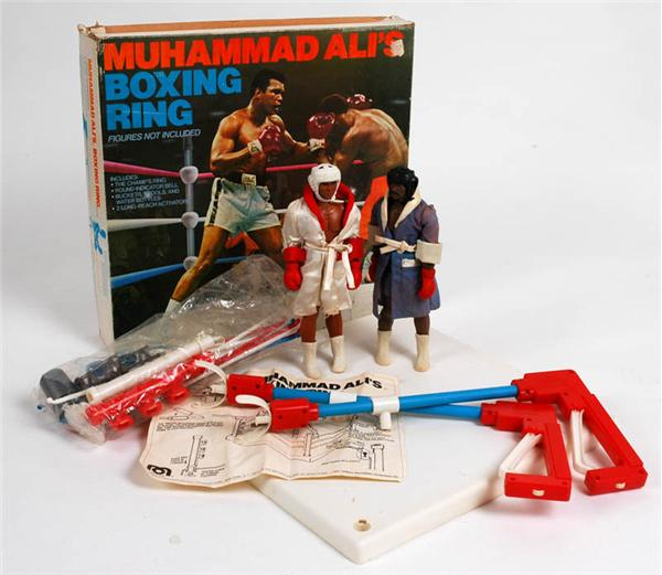 1976 Muhammad Ali Toy Ad with ring.