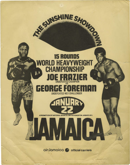 AUGUST2016Joe Frazier vs. George Foreman I fight poster.