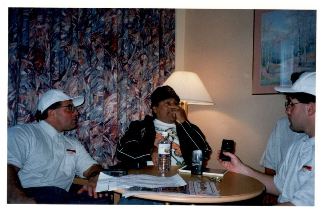 The Boxing Twins John and Alex Rinaldi interviewing the great Roberto Duran.