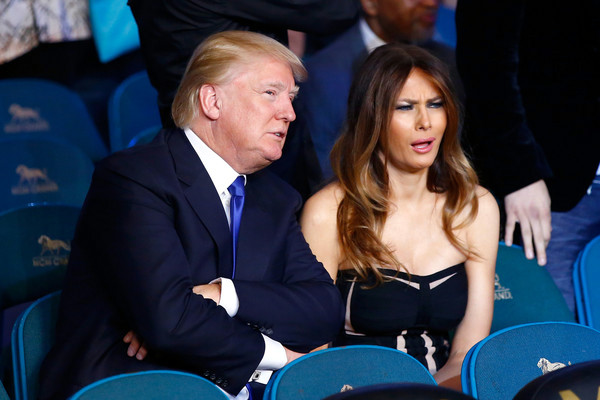 Donald and Melania Trump ringside at the Mayweather-Pacquiao bout