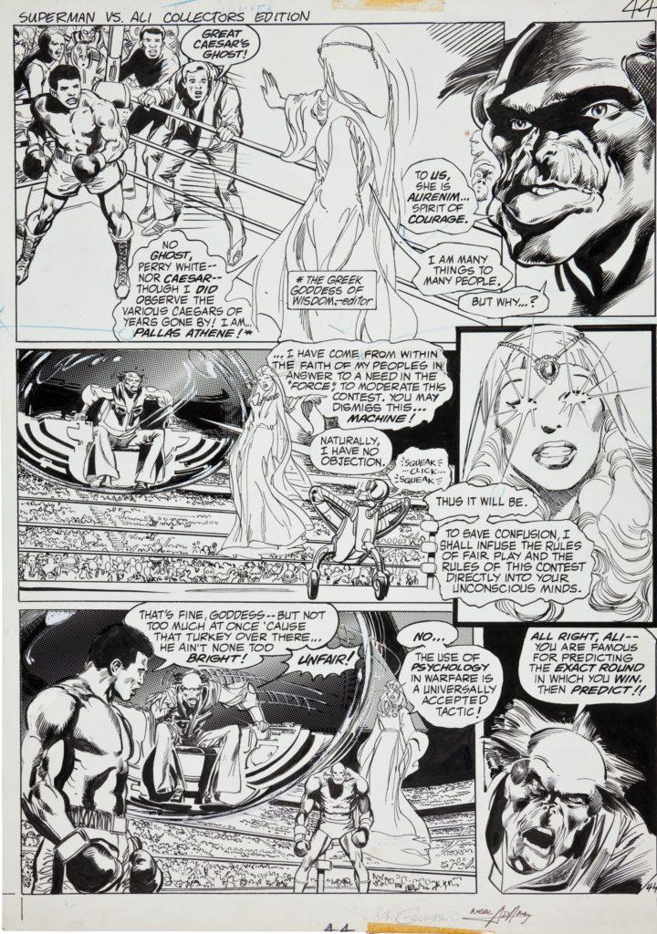 Muhammad Ali and Superman in comics