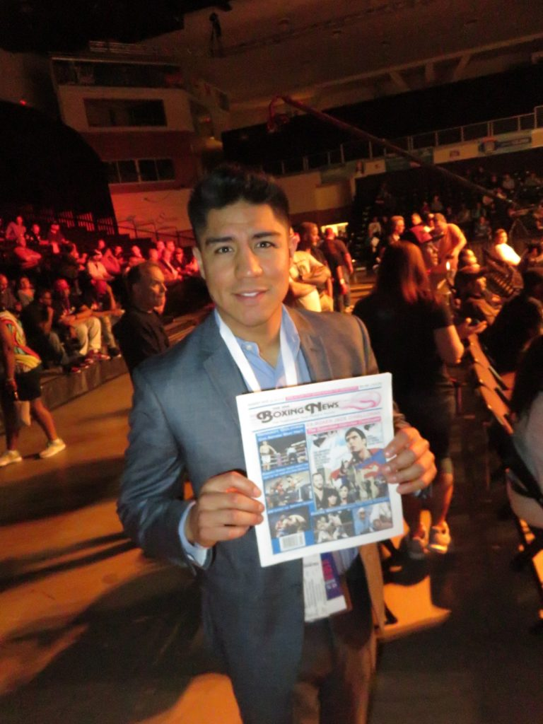 Jessie Vargas with The USA Boxing News.