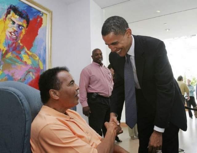 Muhammad Ali with President Barack Obama