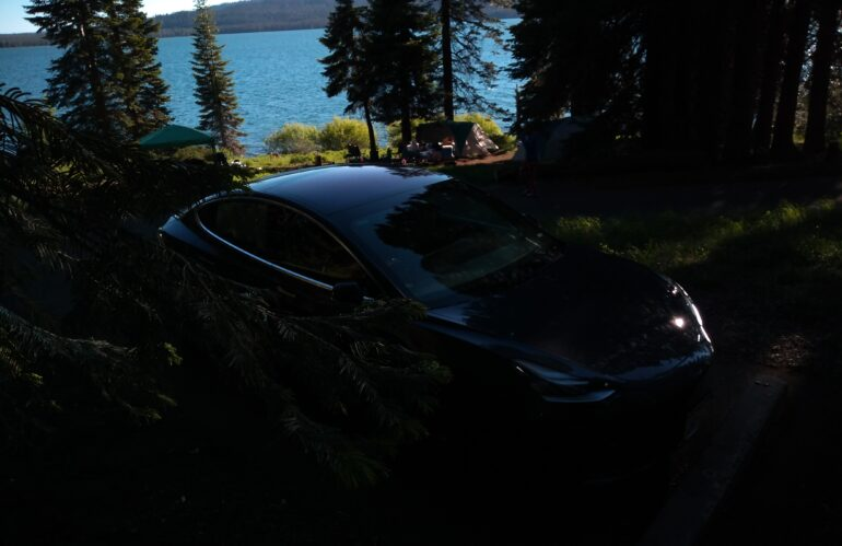 Real Life Model 3 Road Trip:  Day 11 – Diamond Lake Campground