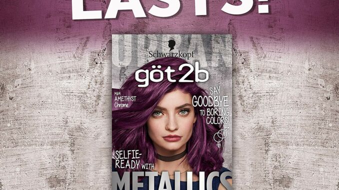 box of metallic purple hair dye