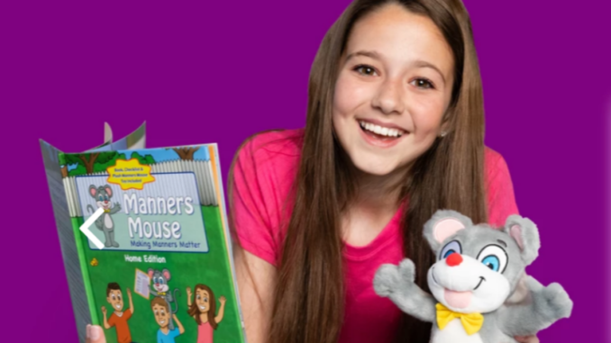manners mouse book and doll