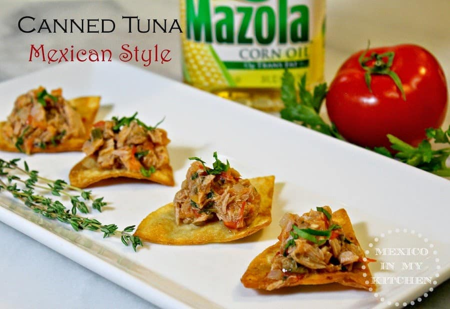 Mexican Tuna on Chips