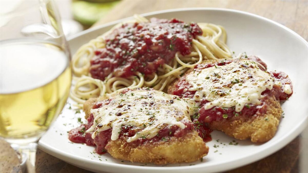 Olive Garden's Chicken Parmigiana from Today.com