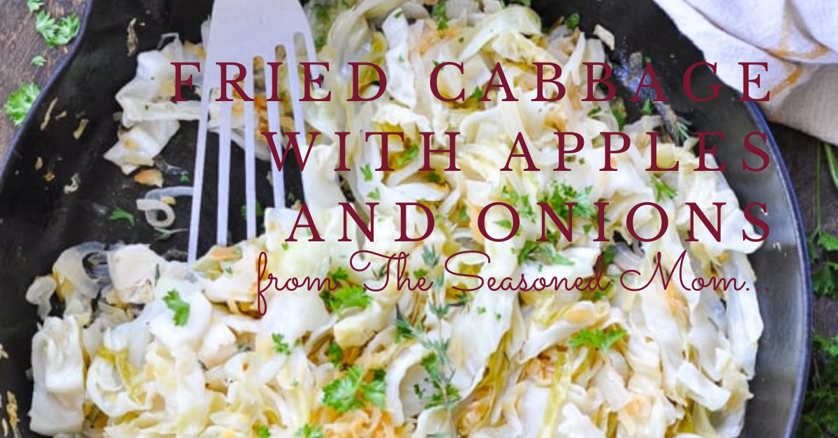 fried cabbage in a pan
