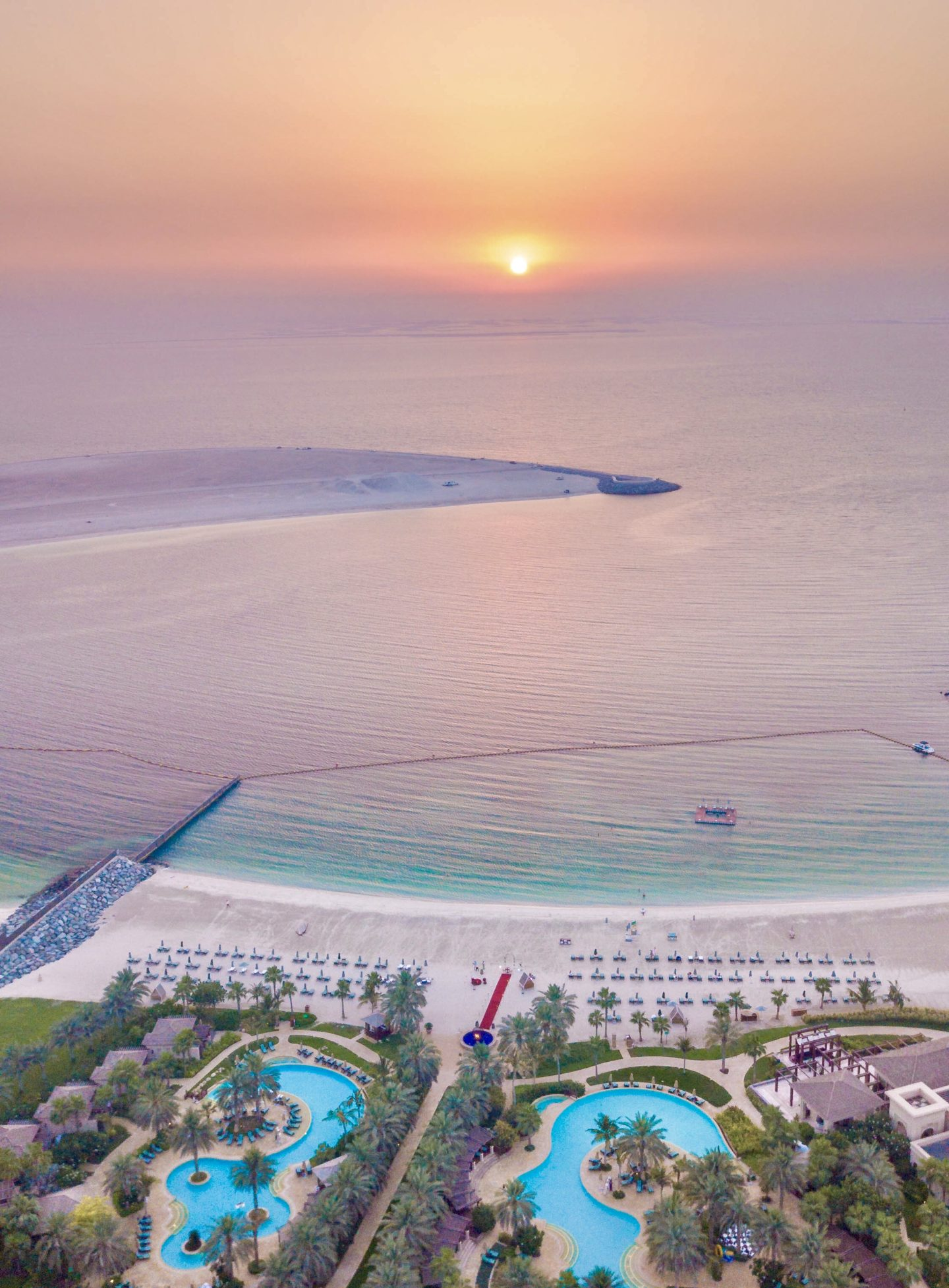 Four Seasons Dubai Sunset Drone