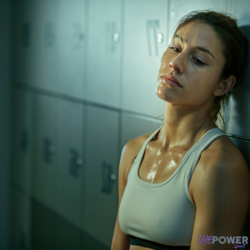 exhausted_female_athlete_sweating