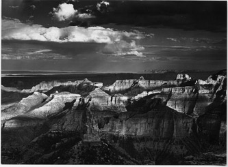 Grand Canyon From Point Imperial, Grand Canyon National Park, Arizona, copyright 1964 Philip Hyde.