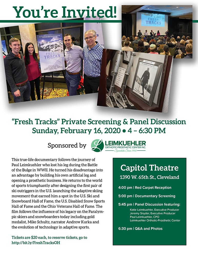 Fresh Tracks Private Screening & Panel Discussion Sunday
