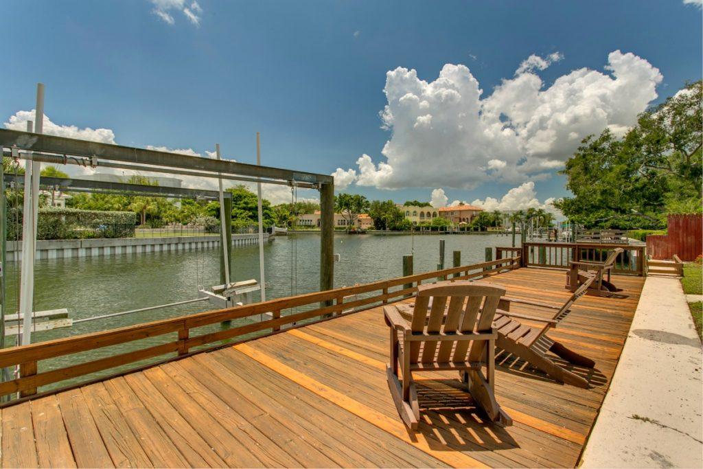 106 Adalia Davis Islands Waterfront Home for Sale Cristan Fadal Dock Waterview