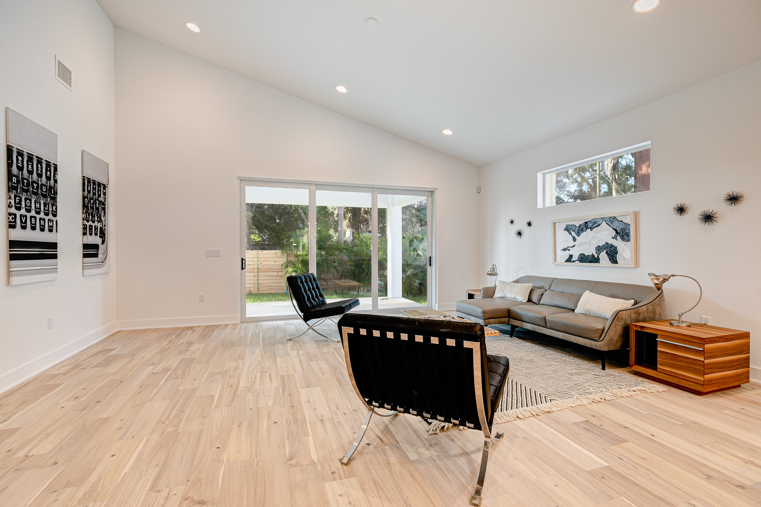Beautiful Wood Flooring Throughout the living area