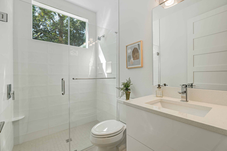 Downstairs guest suite full bath at 1314 W Lemon St