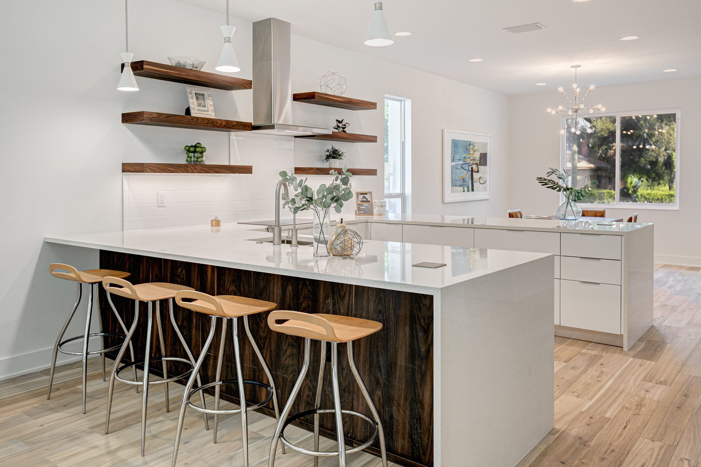 Expansive Breakfast Bar with plenty of seating