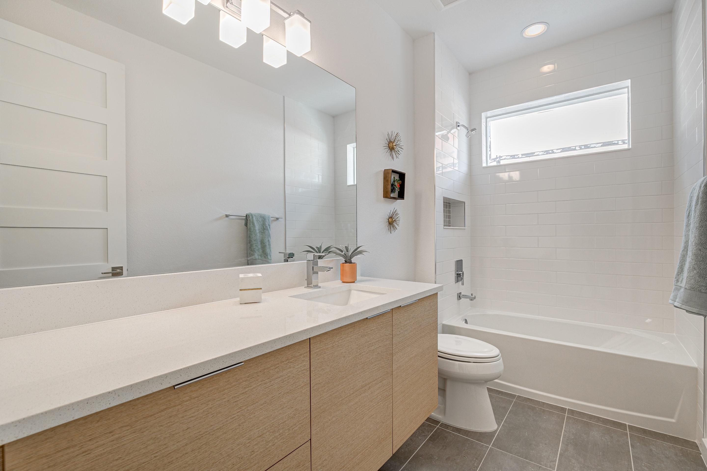 Guest Bathroom with Floating Vanities