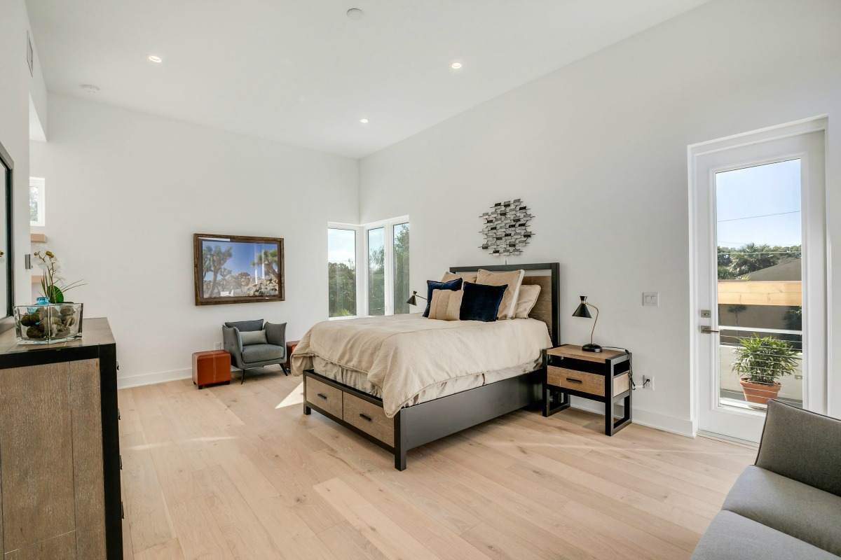Access to Roof Terrace from Master Suite at 438 East Davis Blvd New Construction on Davis Islands Cristan Fadal