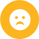 sad face yellow