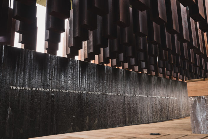 legacy museum lynching memorial waterfall