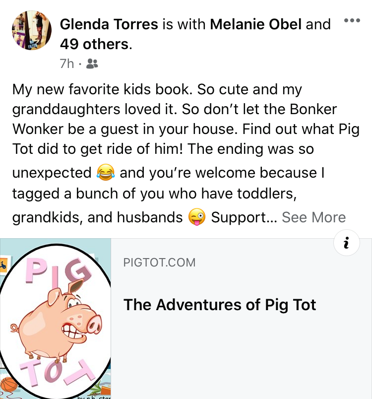 Pig Tot Children's book on Amazon