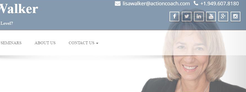 Caoch Lisa Walker WOrdPress website updates by Patricia Gill - saidthespider.net