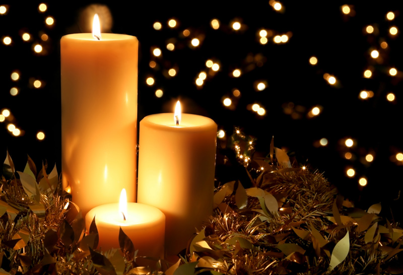 The joy of the season - candle light
