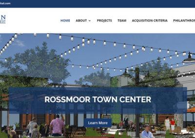 Tallen Capital homepage image slider