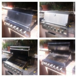Barbecue grills typically maintained annually clean up quite well like this DCS Barbecue
