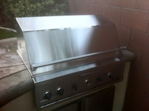pictured is a Lynx barbecue that was just cleaned by BBQ Restorations