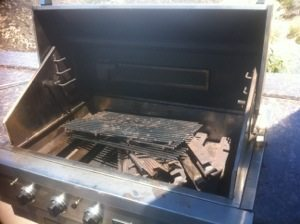 Before picture of a Lynx bbq