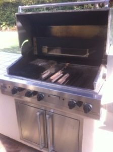 Pictured is our Viking BBQ Before the restoration by bbq restorations