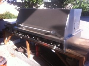 Pictured is a Viking BBQ before the restoration service from BBQ Restorations