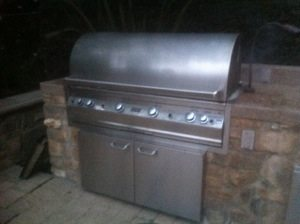 pictured is a before pic of a firemagic bbq before bbq restorations performed a pro cleaning on it