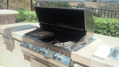 Pictured is a barbecue grill that was getting ready to be serviced by BBQ Restorations