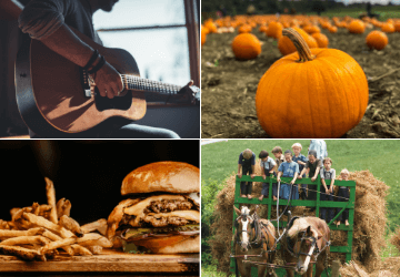 Special Events at Fort Hill Farms include Music, Pumpkins, Food and Hay Rides