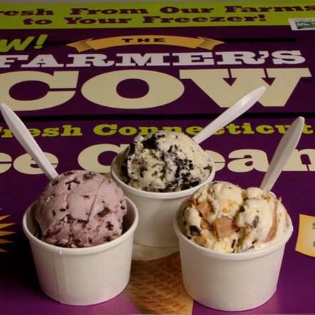3 cups of The Farmer's Cow Ice Cream