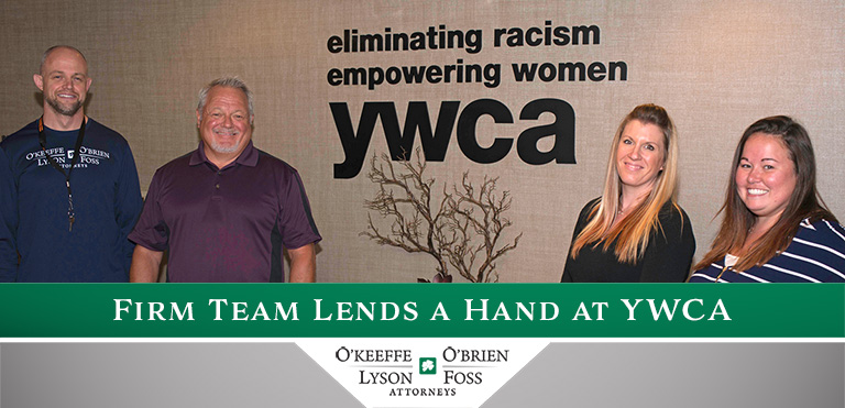 YWCA community involvement activity O'Keeffe O'Brien Lyson Foss