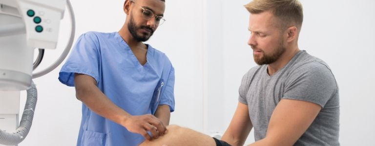 man in phyiscal therapy personal injury fargo