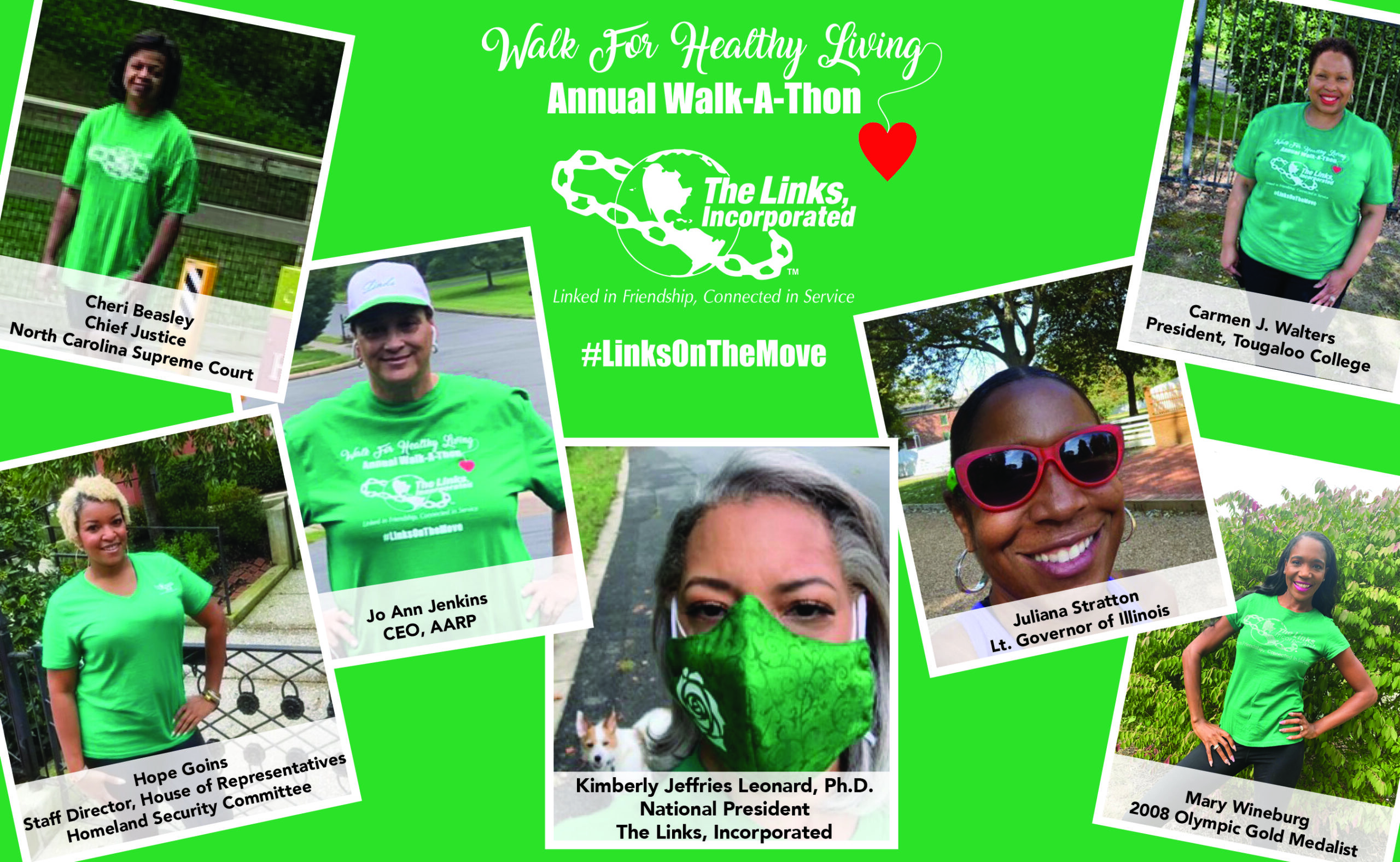 The Links, Incorporated Hosts 25th Anniversary Walk For Healthy Living Walk-A-Thon Virtually; Thousands of Black Women and Community Members Make Strides Toward Better Health