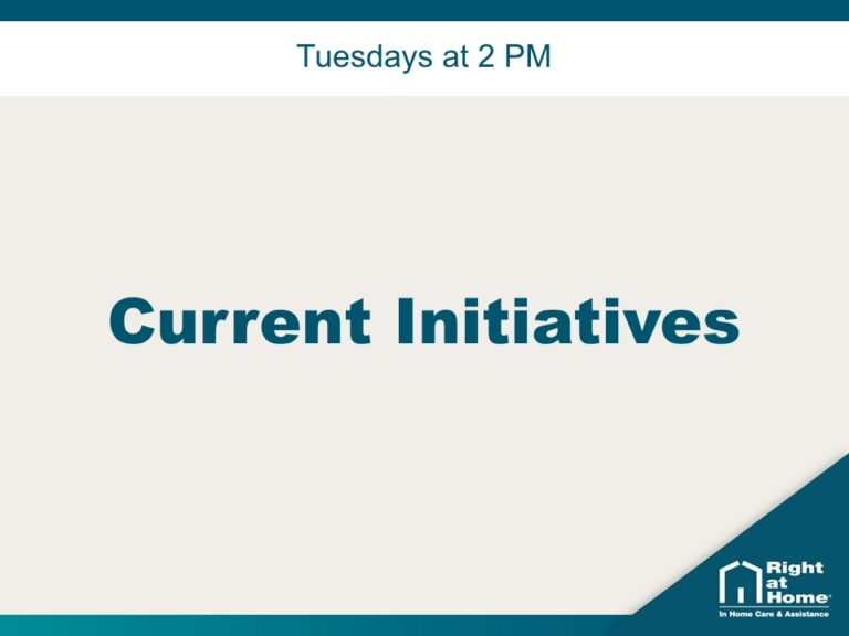 Tuesdays at 2 PM | Current Initiatives