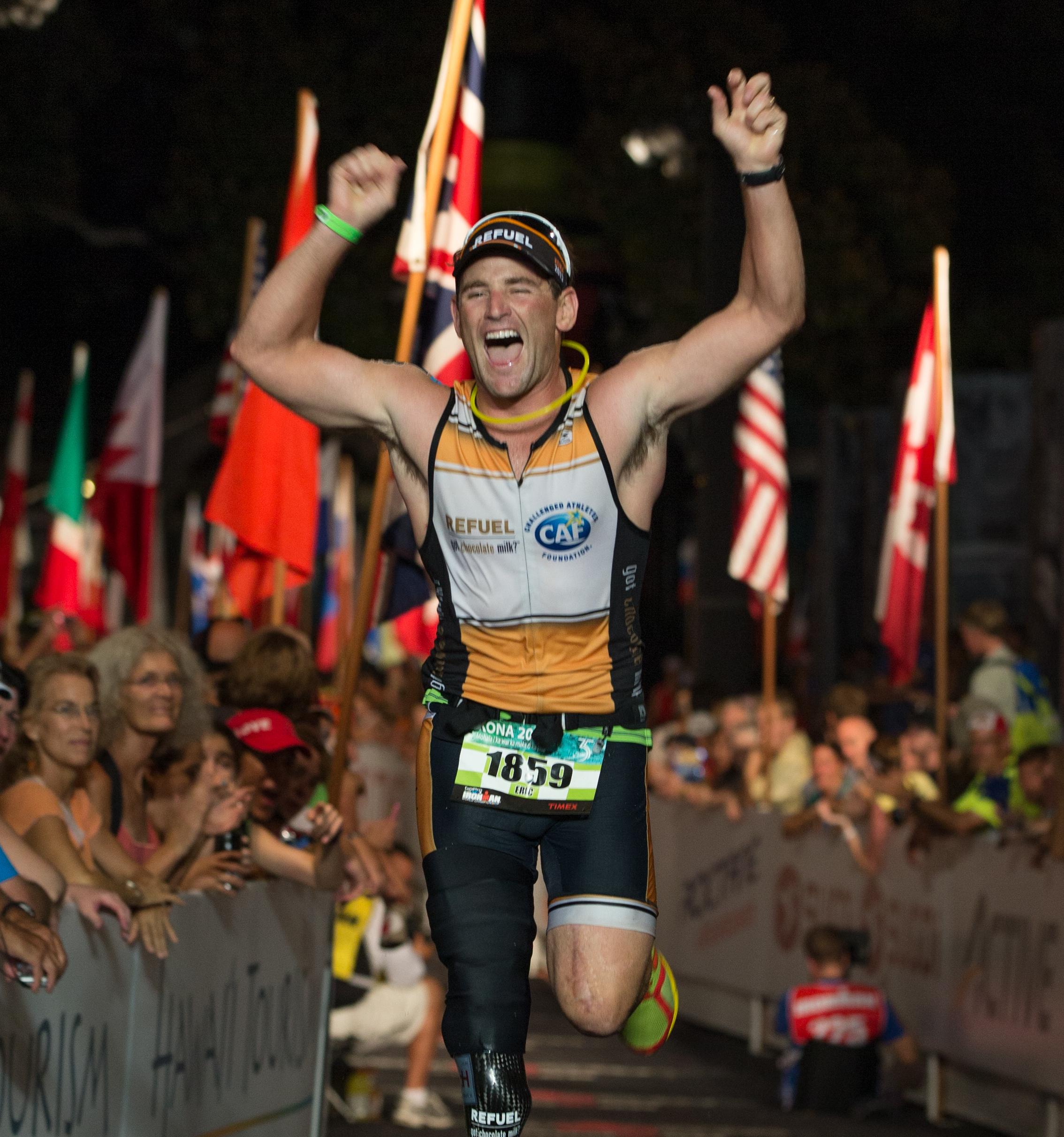 at the Ironman World Championship in Kailua-Kona, Hawaii on October 12, 2013